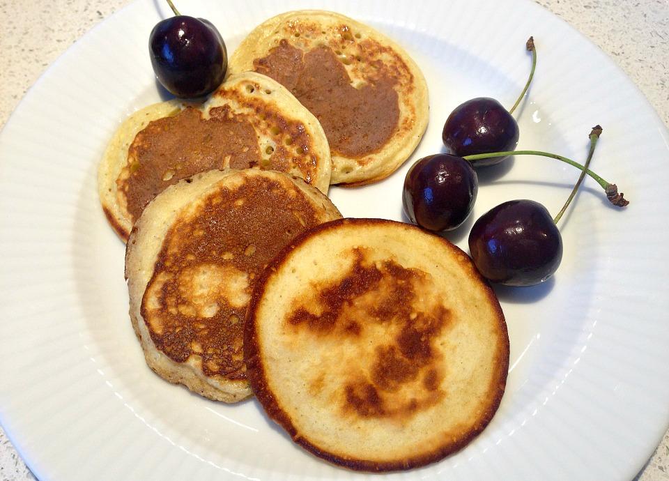 Amerikanske pandekager, servering